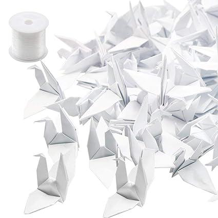 Guirnaldas De Origami De Hangnuo Forma De Grulla Hilo De Seda Invisible Para Bodas Decoración Del Hogar