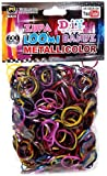Loom Bands Refills - 600 Count - METALLIC ASSORTED (with S clips)