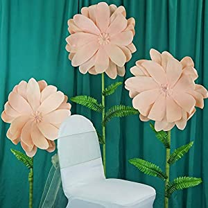 Mikash 24 Wide Artificial Dahlia Flowers for Wall Backdrop Wedding DIY Decorations | Model WDDNGDCRTN - 16136 | 8 Pieces 115