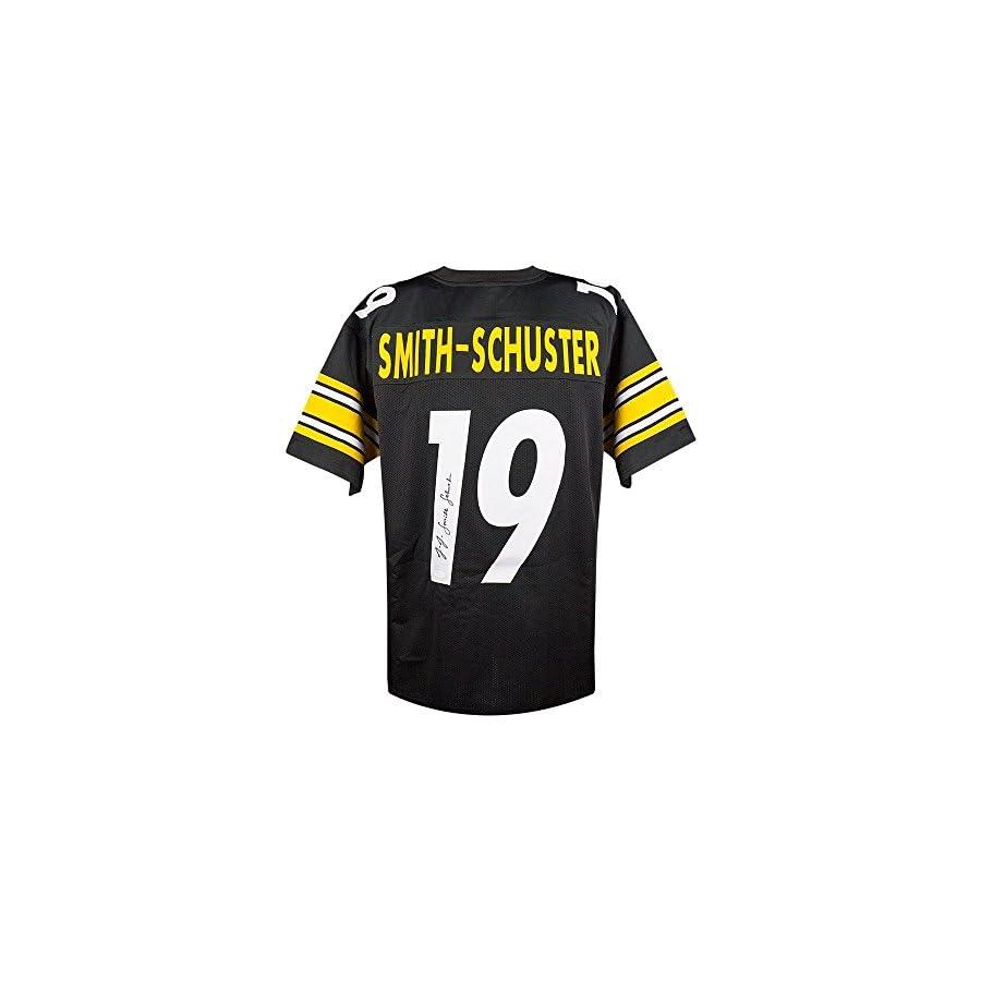 JuJu Smith Schuster Autographed Steelers Custom Black Football Jersey JSA COA