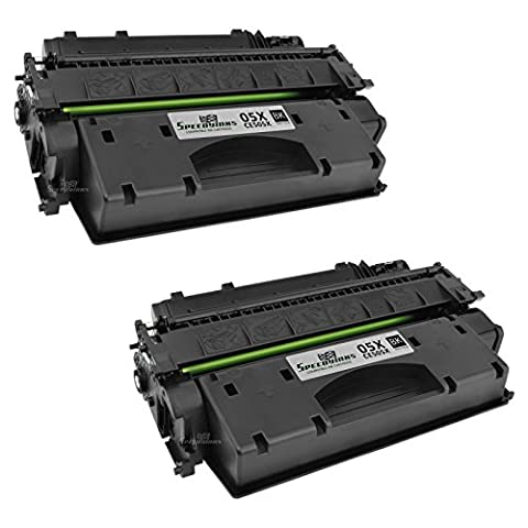 Speedy Inks - 2pk Compatible Replacement for HP 05X CE505X Black Laser Toner Cartridge for use in LaserJet P2055d, P2055dn, (Hp 05a Cartridge)