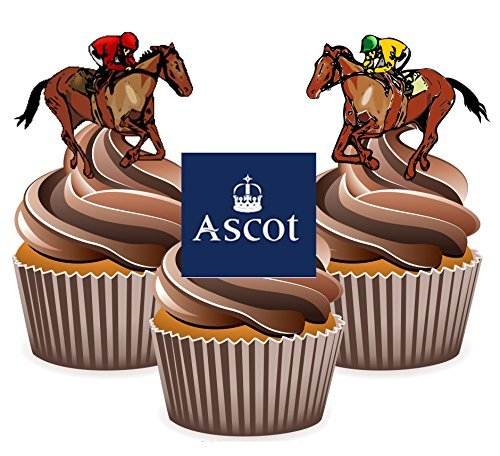 Horse Racing Ascot Mix - Edible Stand-up Cupcake Toppers ...