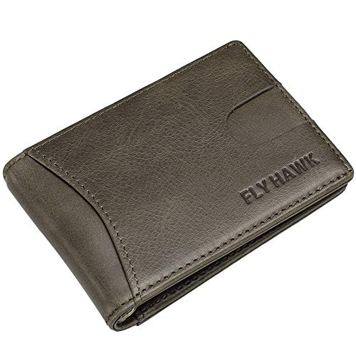 RFID Blocking Wallets for Men Slim Bifold Leather Wallets Travel Passport Wallet