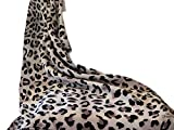 100% Silk Leopard Print Scarf. Nicer than most animal print designer scarves. Perfect gift for her for bachelorette party or as favors. Makes fabulous 40th or 50th birthday present for new cougar.