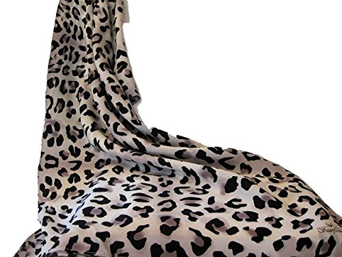 100% Silk Leopard Print Scarf. Nicer than most animal print designer scarves. Perfect gift for her for bachelorette party or as favors. Makes fabulous 40th or 50th birthday present for new cougar. (Make Silk Scarf)