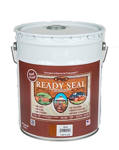 Wood Siding Stain - Ready Seal 515 5-Gallon Pail Pecan Exterior Wood Stain and Sealer