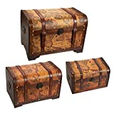 Best Hope Chests - Juvale Wooden Chest Trunk, 3-Piece Storage Trunk Review