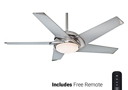 Casablanca ceiling fan 59094 stealth brushed nickel 54 with light casablanca ceiling fan 59094 stealth brushed nickel 54quot with light remote aloadofball Gallery