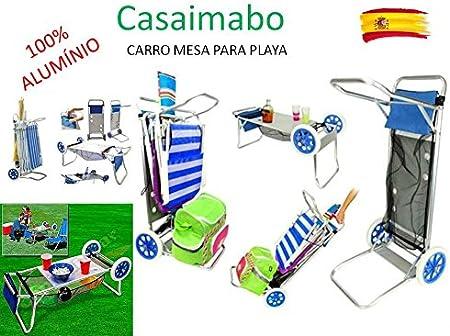 Carro Portasillas Aluminio-Carro Porta sillas, sombrillas, Nevera ...