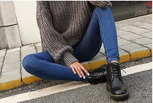 35eu Zapatos Hhgold E Tacón color Cálidos Invierno 1 2 Mujer Tamaño Para Alto Botas De Vintage Otoño ZwZqRgpn