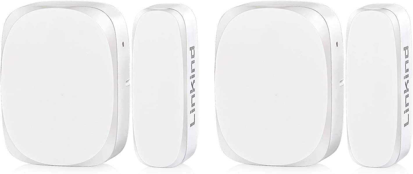 Linkind Door Window Sensor, Zigbee-White, for Use with Linkind Home Security System, Automation with Linkind Smart Zigbee LED Lights, Linkind Hub Required (NOT Included), 2-Pack