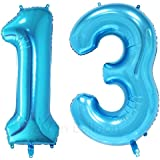 ZiYan 40 Inch Giant 13th Blue Number Balloons,Birthday/Party balloons