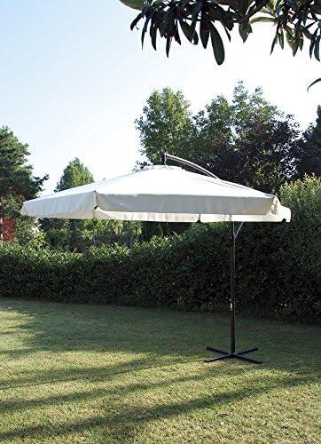 Sombrilla excéntrica redonda de acero, diámetro de 3 m, beige, de ...