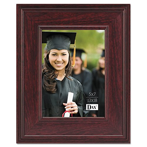 (DAX Products - DAX - Executive Document/Photo Frame, Desk/Wall Mount, Wood, 5 x 7, Mahogany - Sold As 1 Each - Frame adds an elegant touch to make your displays)
