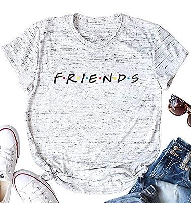 AEURPLT Womens Friends TV Show T Shirt Summer Short Sleeve Funny Graphic Tee Shirts