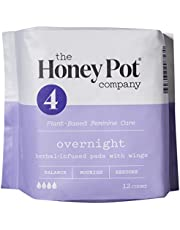 The Honey Pot Feminine Pads with Wings, Herbal All Natural