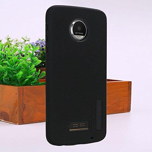 Hanbaili Caja protectora para Motorola Moto Z Juego, TPU + PC cubierta de parachoques, la absorción de choque, resistente a los arañazos Black