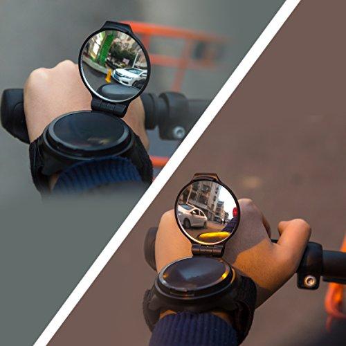 Bike Mirror,JOOKKI Rear View Bicycle Helmet Mirror,360 Degree Adjustable Wrist Mirror for Cycling by JOOKKI (Image #3)