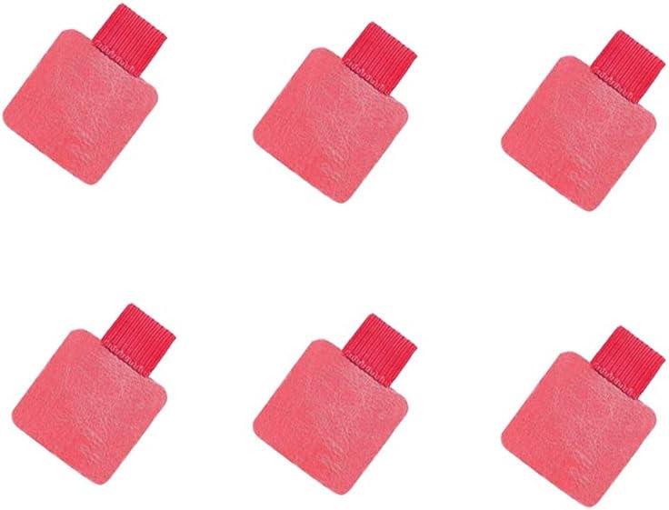 Pen Loop Holder Self-Adhesive Pencil Elastic Loop Pen Holder for Notebooks Laptop Tablet 6 Pack (Pink)