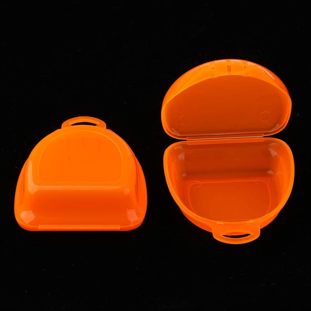 Cas de stockage de dentier de boîte de garde de dents 2PCS pour l/'art