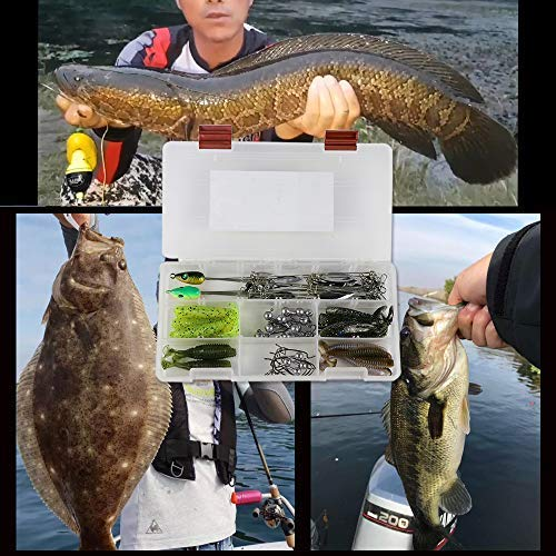 Ilure 5 Arms Alabama Umbrella Rig Fishing Ultralight Tripod Bass Lures Bait Kit Junior Ultralight Willow Blade Multi-Lure Rig (8 Blade kit (43pcs)) by Ilure (Image #5)