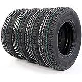 Motorhot Pack of 4 ST225/75-15 Radial Trailer Tires Load Range E 10 Ply 22575R15 2257515