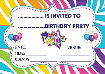 Image Unavailable Not Available For Colour BOYS GIRLS UNISEX CHILDRENS BIRTHDAY PARTY INVITES
