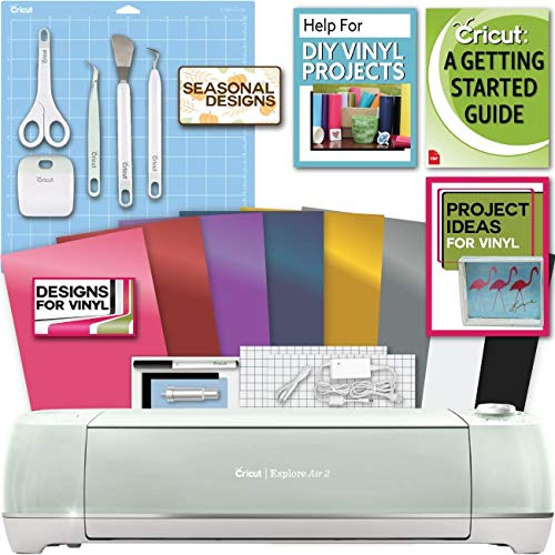 Cricut Explore Air 2 Machine Bundle Beginner Guide, Tool...