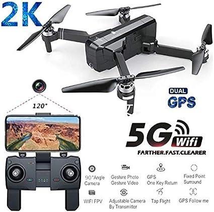 RONSHIN SJRC F11 Pro GPS 5G WiFi FPV con c/ámara 2K 25mins Tiempo de Vuelo sin escobillas Selfie RC Drone Quadcopter 1 bateria