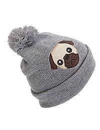bcf9814dd0c Universal Textiles Childrens Girls Animal Design Glitter Winter Beanie Hat  with Pom Pom