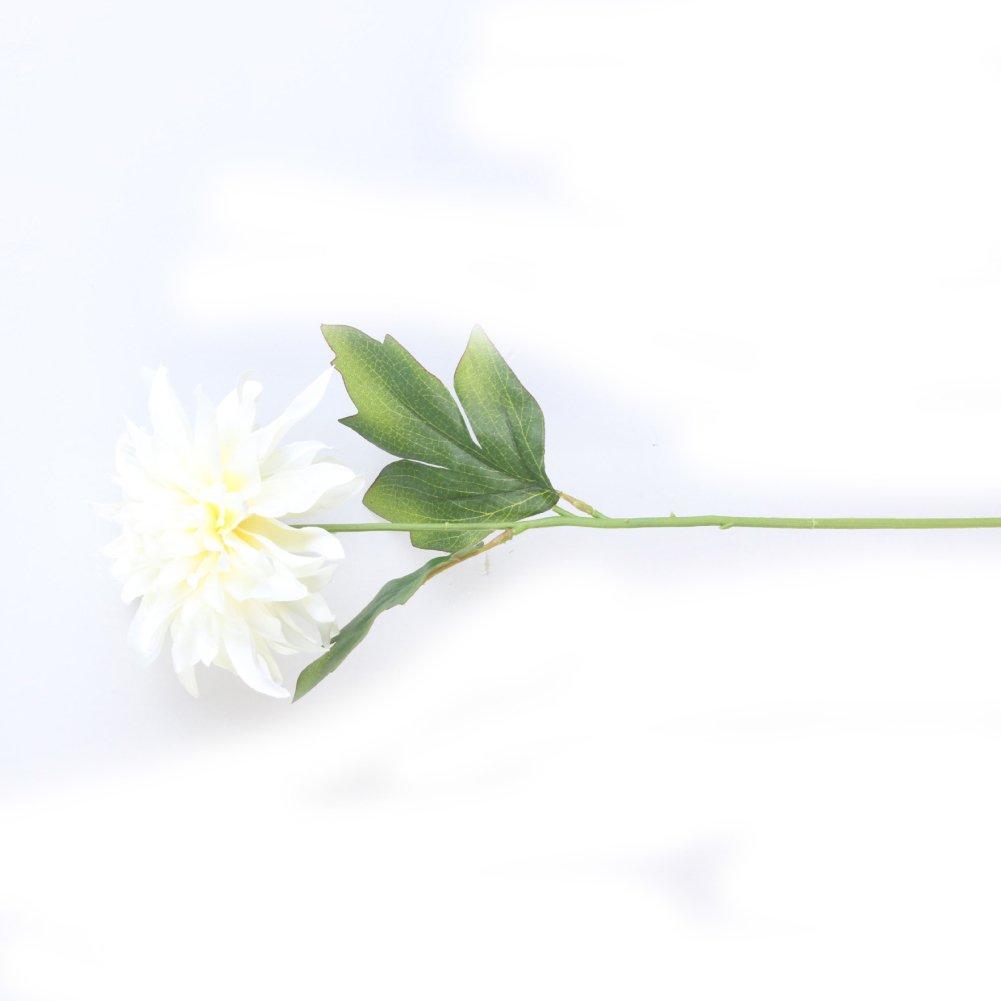 AkoMatial 造花 造花 1ピース ファッション 人工牡丹 花 結婚式 パーティー ブーケ ホームデコレーション ギフト イエロー ベージュ 97697 B07GSZZL4H ベージュ