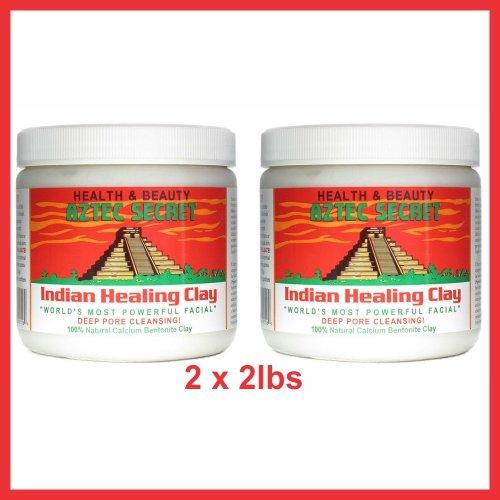 Aztec Secret Indian Healing Clay Deep Pore Cleansing, 4 lbs ( 2x 2Lbs)