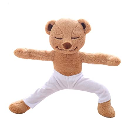 XQYPYL Juguete de Peluche Oso de Yoga Dormir Calmar Muñeca ...