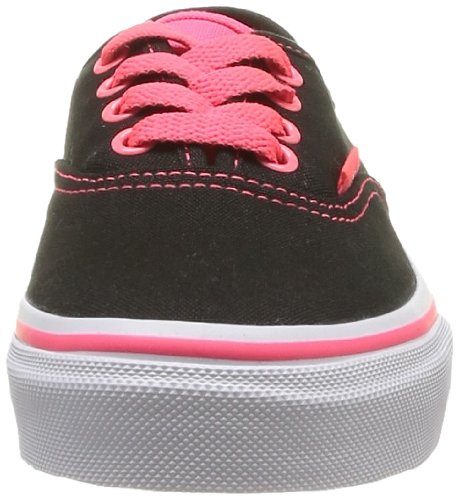 Vans K Authentic Pop, Unisex-Kinder Hohe Sneakers Black (black/neon Red)