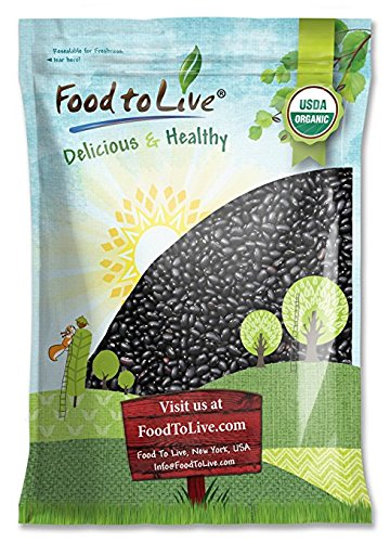 Organic Black Turtle Beans, 5 Pounds - Dried, Non-GMO, Kosher, Raw, Sproutable, Vegan, Bulk