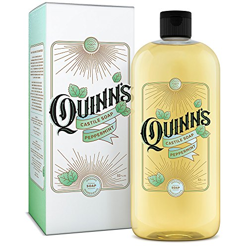 (Quinn's Pure Castile Organic Liquid Soap, 32 oz (Peppermint))