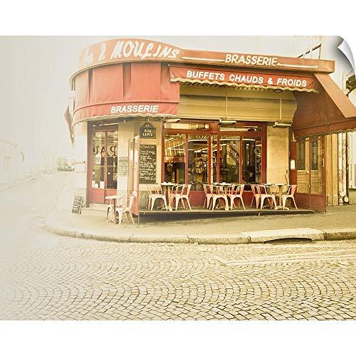 CANVAS ON DEMAND Paris Brasserie Wall Peel Art Print, 30