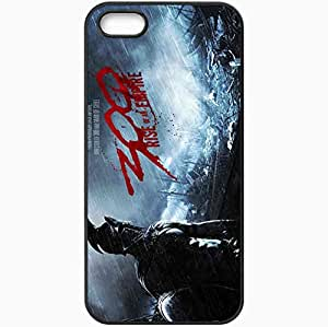 Personalized iPhone 5 5S Cell phone Case/Cover Skin 300 Rise Of An Empire Movie Movie Black