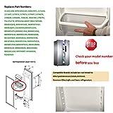 W10321304 refrigerator Door Shelf Bin with White