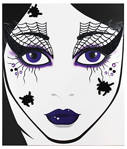 Morris Costumes - Face Decal Spider Web - Standard