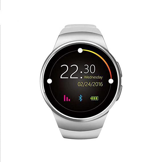 FROMPR Smart Watch KW18 1.3 inches IPS Round Touch Screen Water Resistant Smartwatch Phone with SIM Card Slot,Sleep Monitor,Heart Rate Monitor and ...