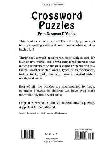 Crossword Puzzles (Dover Children's Activity Books): Fran Newman-D ...