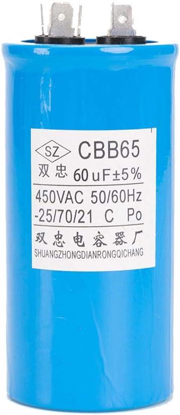 Icquanzx 60uf Cbb65 Round Aluminium Elektrolyt Elektronik