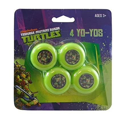 Amazon.com: Teenage Mutant Ninja Turtles 4pk Mini Yo Yo ...
