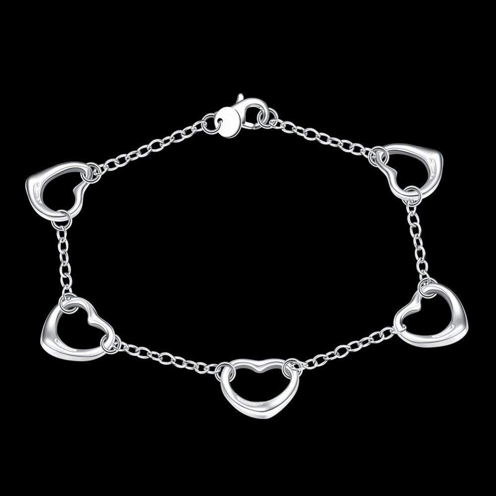 Women Elegant European and American Jewelry Japanese and Korean Fashion Jewelry Five Love Bracelet