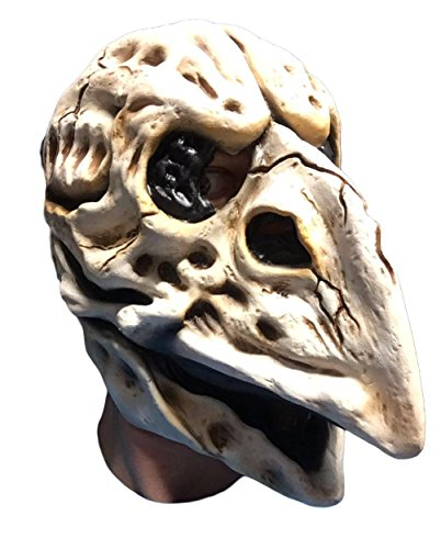 Rubber Johnnies Skull Crow Mask, Latex , Day of The Dead , Plague Doctor, Bird -