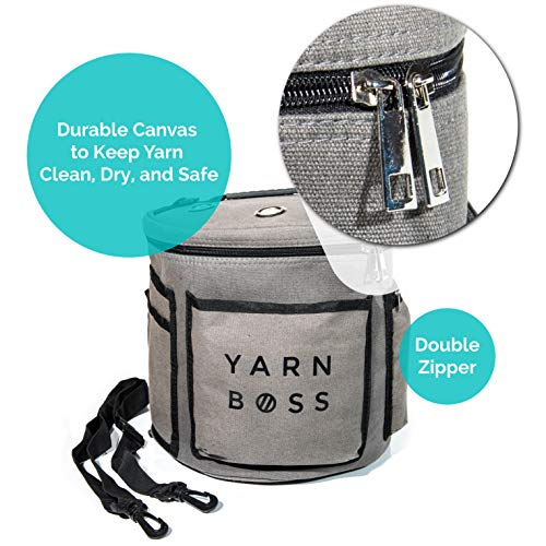 Yarn Boss Yarn Bag, Travel With Yarn and all Notions - Yarn Storage To Organize Multiple Projects and Keep Your Yarn Safe and Clean - Wide Grommets Stop Tangling for Best Crochet Bag or Knitting Bag by Yarn Boss (Image #5)