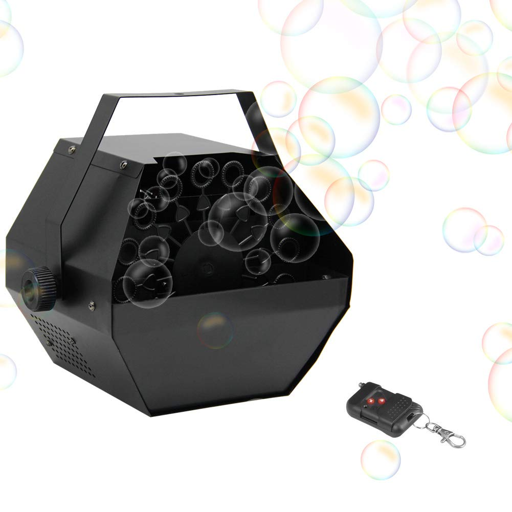 FORUP Portable Bubble Machine, Professional Automatic Bubble Maker with High Output for Outdoor/Indoor Use, Wireless Remote Control