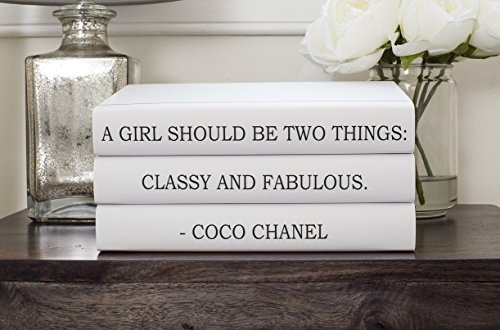 "Chanel Quote ""Classy and Fabulous"" Book Set, Fashion Designe"