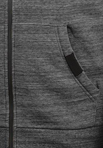 En Veste Sweat Obito Polaire Fermeture Homme shirt solid Pour Melange Avec 8236 Capuche Zippé Doublure Éclair Sweat À Grey wEqXxd5